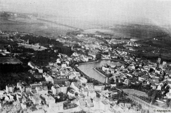 Fliegeraufnahme, Insterburg