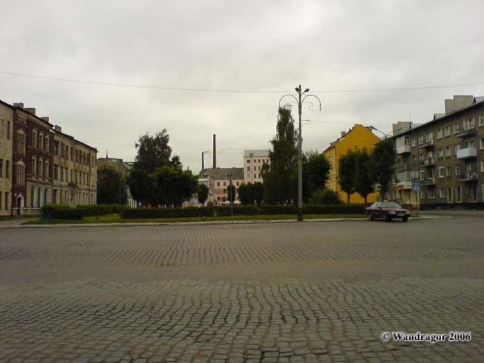 Виж на площадь Ленина и сквер (переулок 2й-Госпитальный), Черняховск