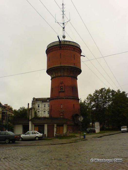 Водонапорная башня (угол улиц Спортивная и Гагарина), Черняховск