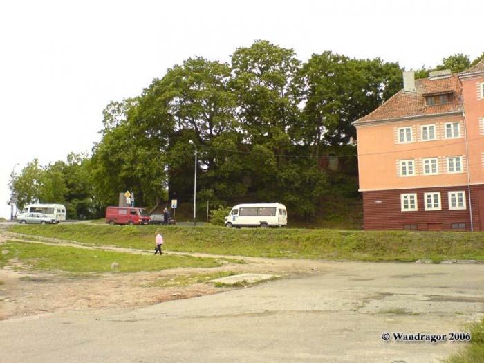 Вид на замок Инстербург (со стороны улицы Льва Толстого), Черняховск