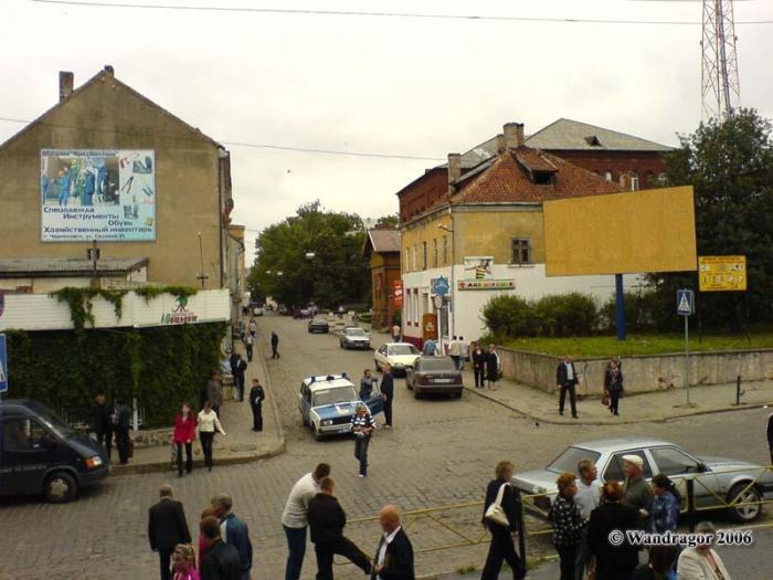 Вид на улицу Калинина (со стороны Центрального рынка), Черняховск