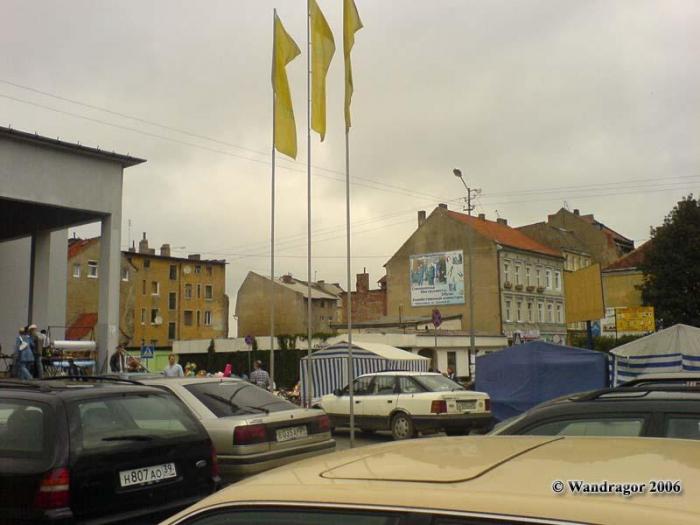 Театральная площадь (рядом с Центральным рынком), Черняховск