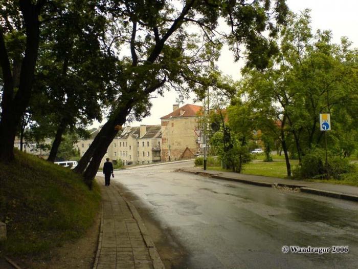 Улица Замковая (рядом с замком Инстербург), Черняховск