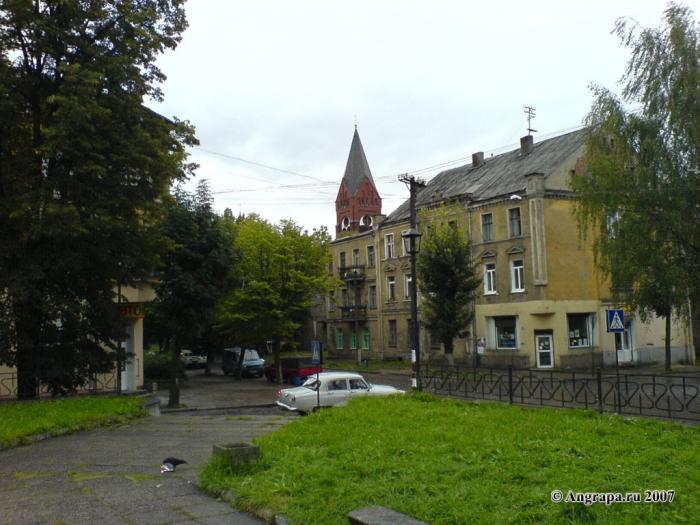 Сквер на пересечении улиц Крупской и Пионерская, Черняховск