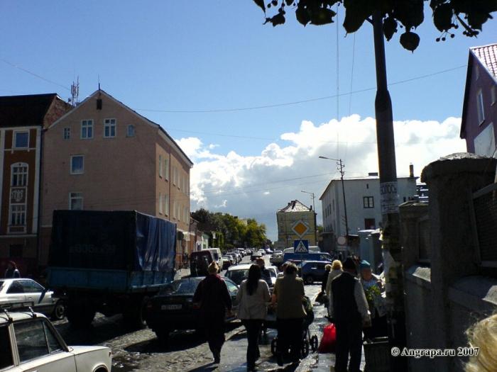 Улица Садовая (рядом с Центральным рынком), Черняховск