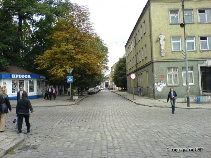 Перекресток улиц Калинина и Пионерская (рядом с Зоновым узлом связи (Почтампт)), Черняховск