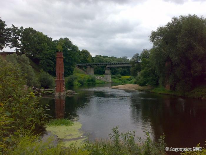 Вид на реку Анграпа, Черняховск