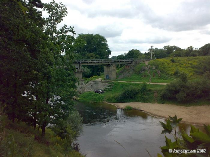 Вид на реку Анграпа (в районе Железнодорожного моста), Черняховск