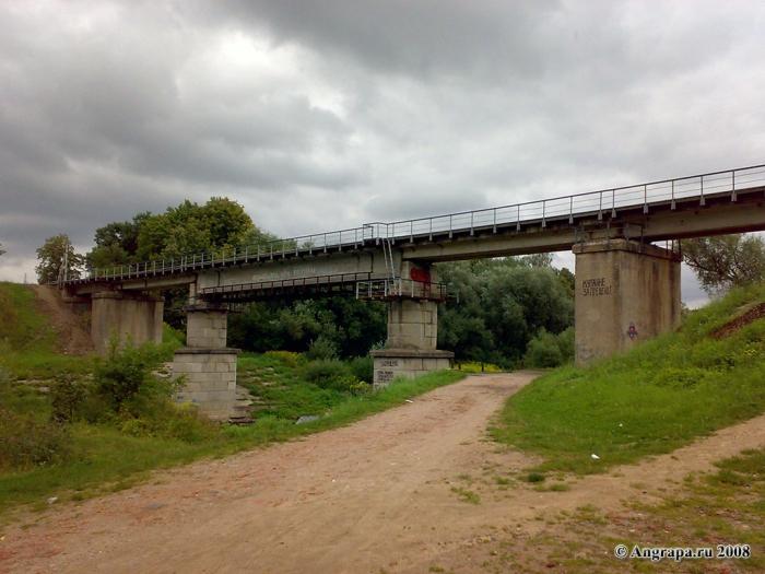 Железнодорожный мост через реку Анграпа, Черняховск