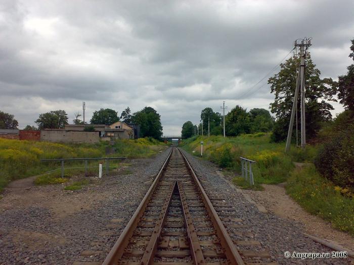 Вид на железнодорожные пути (недалеко от железнодорожного моста), Черняховск