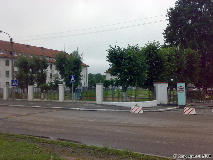 Улица Ленинградская (вид на воинскую часть), Черняховск