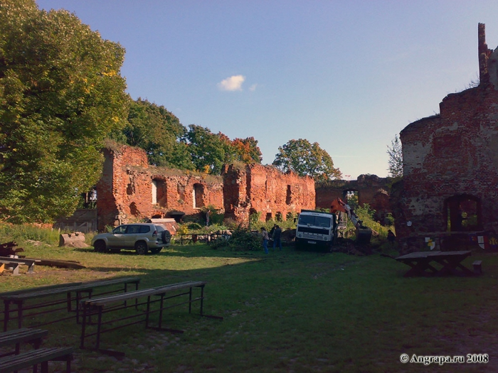 Руины замка Инстербург, Черняховск