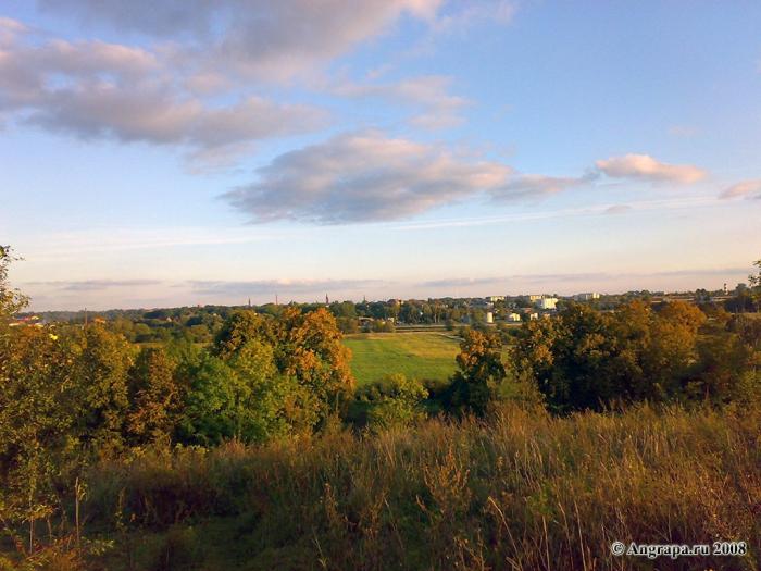Вид на город с южной стороны башни Бисмарка, Черняховск