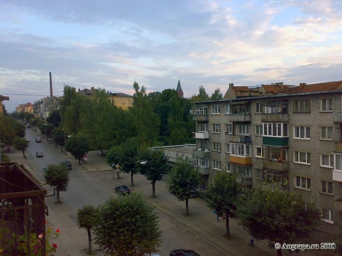 Вид на улицу Ленина, Черняховск