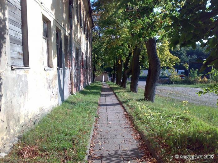 Дорожка на территории замка Инстербург, Черняховск