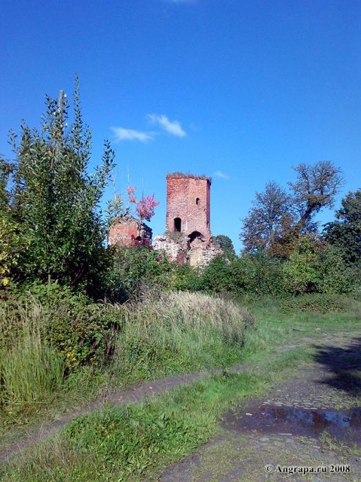 Разрушенная башня замка Георгенбург, Черняховск
