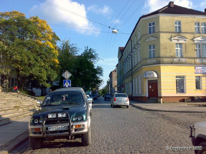 Вид на улицу Садовую, Черняховск