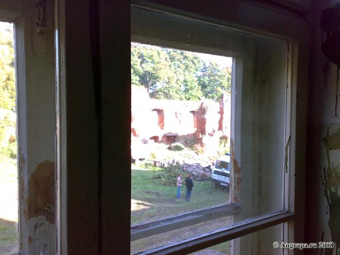 Вид из окна сохранившейся части замка Инстербург, Черняховск