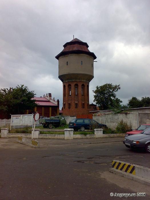 Водонапорная башня рядом с Железнодорожным вокзалом, Черняховск