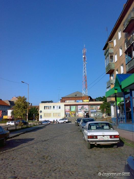 Вид со стороны Дома Офицеров (Театральная площадь), Черняховск