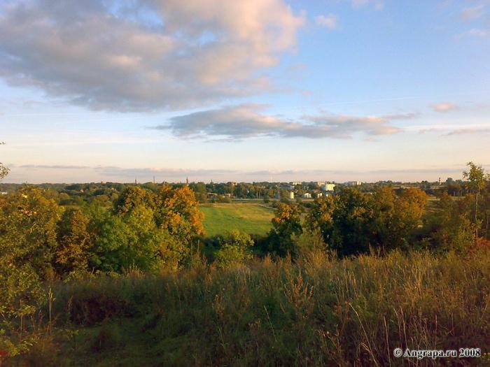 Вид на город со стороны башни Бисмарка, Черняховск