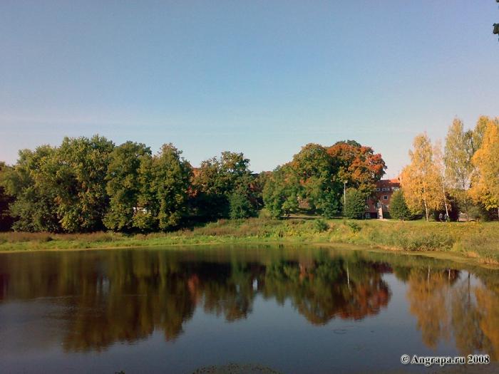 Вид на Замковый пруд, Черняховск