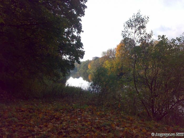 Вид на реку Анграпа (недалеко от навесного моста), Черняховск
