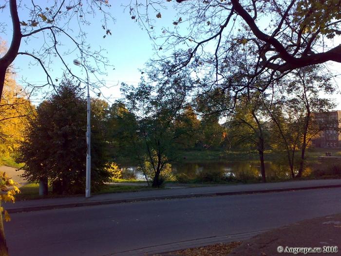 Вид на Замковый пруд (со стороны замка Инстербург), Черняховск