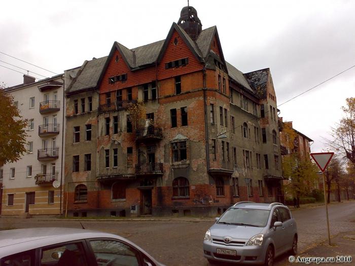 Перекресток улиц Тельмана и Комсомольской, Черняховск
