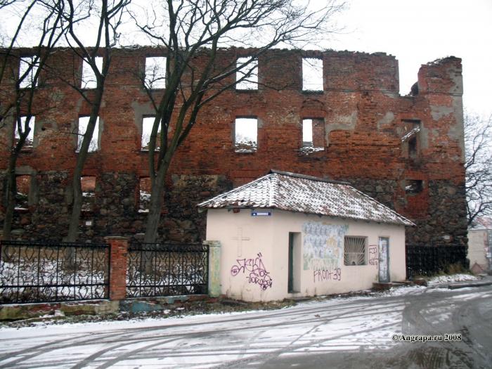 Замок Инстербрг (западная сторона). Улица Замковая, Черняховск