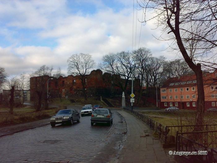 Вид на замок Инстербург (улица Партизанская), Черняховск