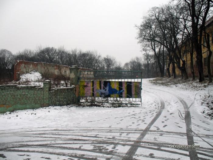 Замок Инстербург (западная сторона). Улица Замковая, Черняховск