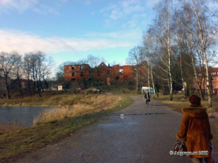Вид на замок Инстербург, Черняховск